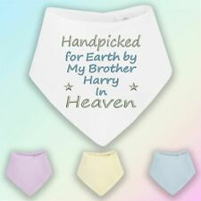 Handpicked for Earth Brother Embroidered Baby Bandana Dribble Bib Gift