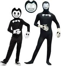 Bendy and The Ink Machine Classic Halloween Costume Child Boys Jumpsuit Mask Set
