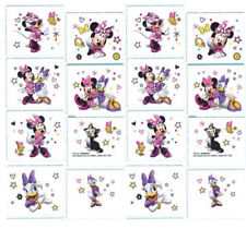 Minnie Mouse 16 Temporary Tattoos Girls Birthday Party Favors 2 Sheet Stationery