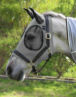 Equine Ride Horse Fly Masks Airflow Mesh UV Mosquitoes Pests Summer Spring Gray