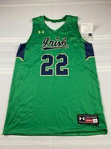UA MENS LARGE NOTRE DAME FIGHTIN IRISH GAMETIME BASKETBALL JERSEY #22 UJKJBSM A1