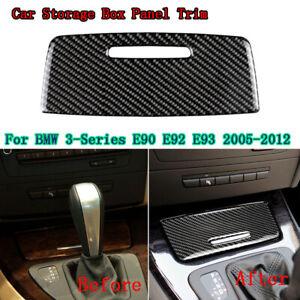 Carbon Fiber Interior Car Storage Box Panel Trim Decor For BMW E90/92/93 2005-12