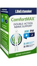 NEW! 2X $25.99 Life Extension ComfortMax AM PM Dual Action Nerve Health GABA