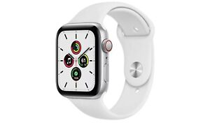 Apple Watch SE 44mm silver aluminium white sport band GPS - BNIB