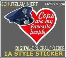 Cops are my favorite people sticker polizeikontrolle aufkleber cops love me 66