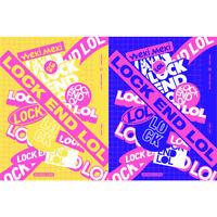 WEKI MEKI LOCK END LOL 2nd Single CD+PhotoBook+Card+Sticker+Etc+Tracking Number