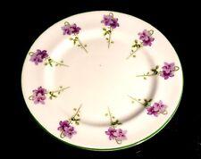 Beautiful Royal Doulton Green Trim Purple Flowers E8434 Bread Plate