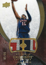 2007-08 Vince Carter UD Exquisite Collection DUAL JERSEY PATCH 4/8 Color #1/10