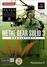 Used PS2  Metal Gear Solid 3 Subsistence SONY PLAYSTATION JAPAN IMPORT