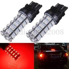 2x T25 3157 3528 68-SMD LED Car Brake Tail Stop Light LED Bulb 3057 3457 Red NEW
