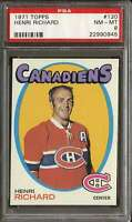 1971-72 TOPPS #120 HENRI RICHARD PSA 8 CANADIENS HOF *DS10652