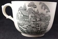 """Antique  Adams Oversized Teacup - """"A Mountain Home"""",  Black Transfer Printed"""