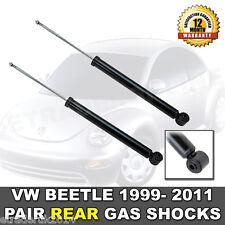 VW BEETLE REAR SHOCK ABSORBERS NEW 1999 > 2011 (PAIR) SHOCKS SHOCKERS QUALITY