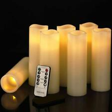 7pcs Flameless Candles LED Flickering Pillar Moving Remote Battery with Timer US