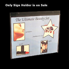 """Lot of 10 Clear Acrylic Horizontal Wall Mount Sign Holder (14""""W x 11""""H)"""