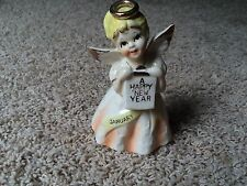 Vintage Happy New Year Napco January Angel Figurine
