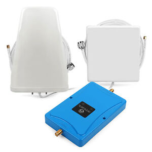 LTE AWS 850/2100MHz Cell Phone Signal Booster 3G 4G Mobile Amplifier+Antenna Kit