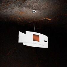 Lampadario in vetro bianco e ruggine moderno a 1 luce tpl 1121/S55-CO