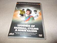 NEW DVD LEGENDS OF BASEBALL CYCLING & HORSE RACING Lester Piggott & Eddy Merckx
