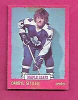 1973-74 OPC # 132 LEAFS DARRYL SITTLER  GOOD CARD (INV# C0060)