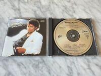 Michael Jackson Thriller CD EARLY PRESS! Epic EK 38112 Billie Jean, Beat It RARE