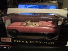 59 Cadillac Convertible 1959 Maisto 1/18 Coupé Deville Rosa Pintura Not Perfect