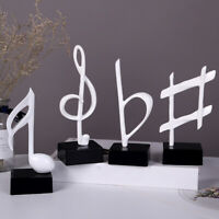 Resin Music Note Statue Stand Home Decor Sculpture Office Desktop Craft Surprise