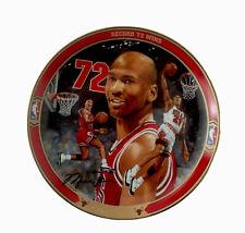 "NBA Michael Jordan ""Record 72 Wins""  Bradford Exchange Collector Plate w/COA"