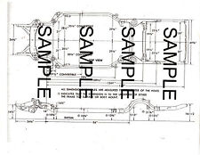 1964 1965 FORD FALCON 64 65 FRAME GUIDE DIAGRAM CHART WITH DIMENSIONS 65BK64 MOF