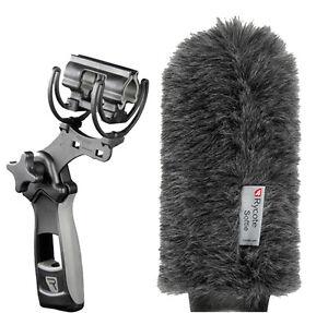 Rycote 18cm Classic-Softie (19/22)& Rycote Lyre Pistol Grip Shock Mount (MKH416)