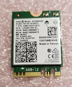Intel WiFi 6 AX200 Wireless Network Card 802.11ax MU-MIMO 160MHz Bluetooth 5.1