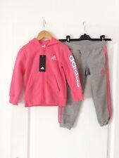 Survêtement Adidas rose/gris LK Hojo - 3/4 ans