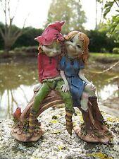 97033 Figurine Trolls Couple amoureux Pixie Elfe Pixies Farfadet Korrigan