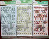 TREASURE Chipboard Glitter THICKER Sticker 3Varieties 28-34mmH 4-15mmW Choice L5