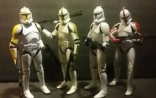 STAR WARS COMPLETE SET BLACK SERIES 6 INCH PHASE I CLONE TROOPERS MINT LOT OF 4