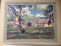 Vintage C 1918 tipped in colour print Abbotsbury, Dorset by E Beatrice Bland