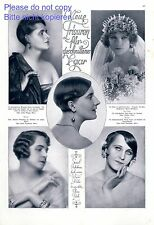 New hairstyles 1925 One page with photographic images hair stylist bride 20s