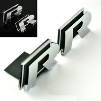 2 Pcs Black R Line Boots Trunk & Grill Sticker Badge Emblems Universal For All