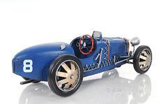 """1920s Bugatti Type 35 Metal Racing Car Model 14"""" Automobile Automotive Decor"""