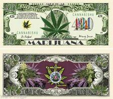 420 Medical Marijuana $420 Dollars Bill Note