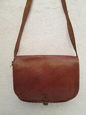 AUTHENTIQUE  sac à main  bandoulière STYLE HIPPY  cuir  (T)BEG sublime bag