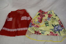 Lot Of 2 VINTAGE Hostess/Kitchen Half-Style Aprons, Multi-Color & Themed-B54