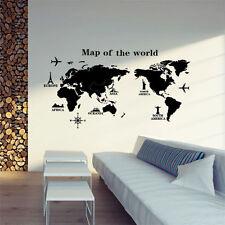 Removable PVC World Map Vinyl Art Room Wall Sticker Decal Mural Home Decor DIY