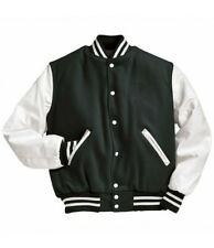 NEW - HOLLOWAY Unisex THE ORIGINAL Black/White VARSITY JACKET - M
