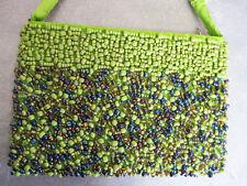 Apple Green Beaded Evening Bag Date or Cell phone shoulder bag