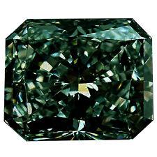 Loose Moissanite Diamond 4 Ring/Pendant 2.44 ct Vvs1/8.90Mm Brown Blue Radiant