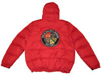Polo Ralph Lauren Red 3XB Crest Patch Down Parka Winter Coat Big Tall Jacket 3XL