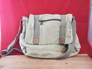 Fossil 1954 Khaki Canvas Military Style Messenger Bag Computer Bag