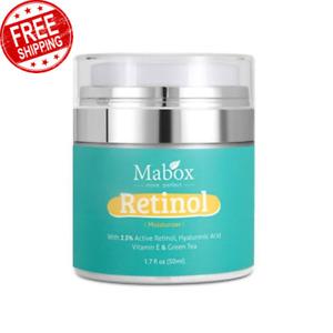 Mabox Retinol Moisturizer Face Whitening Cream Vitamin E Collagen Anti Aging