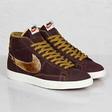 Nike Blazer Mid PRM VNTG QS SZ 9 Mahogany Golden Tan Sail 638322-200